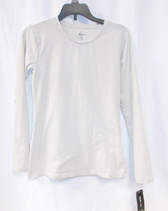 Style & Co Womens T-shirt Basic Long Sleeve Pullover Top Polished Sand  XS NWT