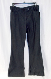 Style & Co Tummy Control Denim Flare Leg Trouser Pants Black Rinse 18 NWT