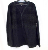 Style & Co Womens Petite Crochet-Front Top PS NWT