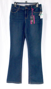 Style & Co Womens Petite Tummy-control Marine Blue Wash Mid Rise Bootcut Jeans  8P  NWT