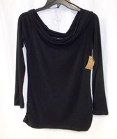 Rachel Rachel Roy Womens Off-The-Shoulder Top Black M NWT