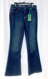 Style & Co Womens Slim Fit Low Rise Flare Jeans Blue 10 NWT