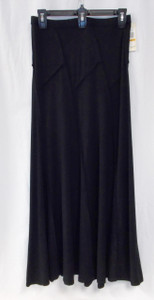 Studio M Diagonal Maxi Skirt Black S Short NWT