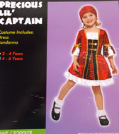 Precious Lil' Captain Child Toddler Costume Dress 2-4 NIP