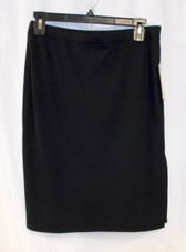 Studio M Black Slit Jersey Pencil Skirt S NWT