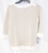 Karen Scott Tuck-Stitched Rib-Trim Pullover Women's Sweater Petite S NWT