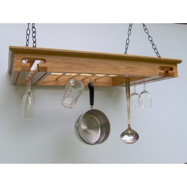 Wine Glass Rack, Pot Rack in One