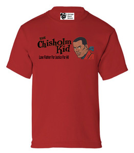 Vintage Black Heroes Boys T-Shirt - The Chisholm Kid - 4 - Red