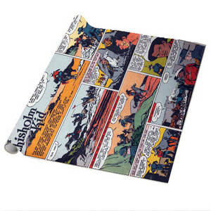 Vintage Black Heroes Wrapping Paper Sheets - The Chisholm Kid - CST3 - Package Of 5