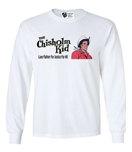 Vintage Black Heroes Men's Long Sleeved T-Shirt - The Chisholm Kid - 1 - White