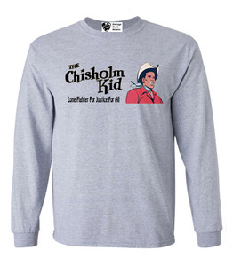 Vintage Black Heroes Men's Long Sleeved T-Shirt - The Chisholm Kid - 1 - Sport Grey
