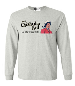 Vintage Black Heroes Men's Long Sleeved T-Shirt - The Chisholm Kid - 1 - Ash