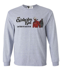 Vintage Black Heroes Men's Long Sleeved T-Shirt - The Chisholm Kid - 2 - Sport Grey