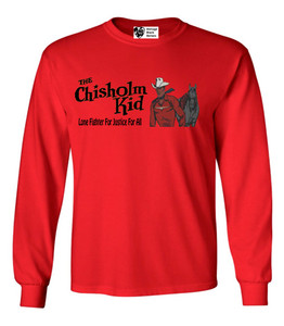 Vintage Black Heroes Men's Long Sleeved T-Shirt - The Chisholm Kid - 2 - Red