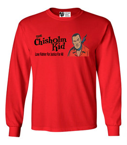 Vintage Black Heroes Men's Long Sleeved T-Shirt - The Chisholm Kid - 3 - Red