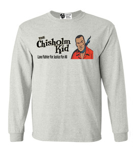 Vintage Black Heroes Men's Long Sleeved T-Shirt - The Chisholm Kid - 3 - Ash