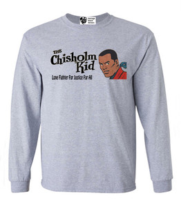 Vintage Black Heroes Men's Long Sleeved T-Shirt - The Chisholm Kid - 4 - Sport Grey
