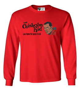 Vintage Black Heroes Men's Long Sleeved T-Shirt - The Chisholm Kid - 4 - Red