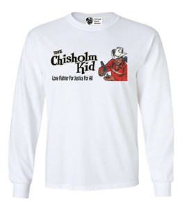 Vintage Black Heroes Men's Long Sleeved T-Shirt - The Chisholm Kid - 5 - White