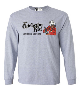 Vintage Black Heroes Men's Long Sleeved T-Shirt - The Chisholm Kid - 5 - Sport Grey
