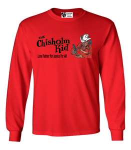 Vintage Black Heroes Men's Long Sleeved T-Shirt - The Chisholm Kid - 5 - Red