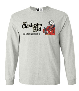 Vintage Black Heroes Men's Long Sleeved T-Shirt - The Chisholm Kid - 5 - Ash