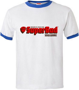 SuperBad Soulware Men's T-Shirt - Blue Ringer