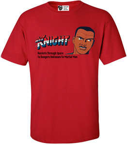 Vintage Black Heroes Men's T-Shirt - Neil Knight - 2 - Red