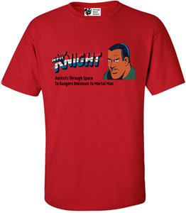 Vintage Black Heroes Men's T-Shirt - Neil Knight - 4 - Red