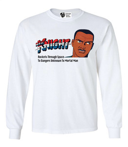 Vintage Black Heroes Men's Long Sleeved T-Shirt - Neil Knight - 2 - White