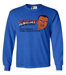 Vintage Black Heroes Men's Long Sleeved T-Shirt - Neil Knight - 2 - Royal Blue