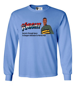 Vintage Black Heroes Men's Long Sleeved T-Shirt - Neil Knight - 3 - Carolina Blue