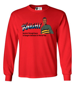 Vintage Black Heroes Men's Long Sleeved T-Shirt - Neil Knight - 3 - Red