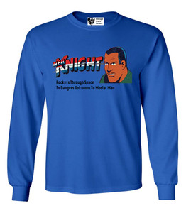 Vintage Black Heroes Men's Long Sleeved T-Shirt - Neil Knight - 4 - Royal Blue