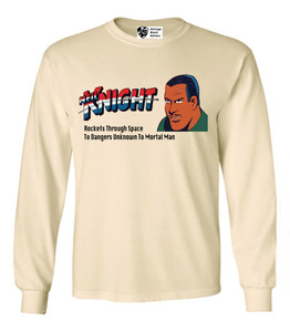 Vintage Black Heroes Men's Long Sleeved T-Shirt - Neil Knight - 4 - Natural