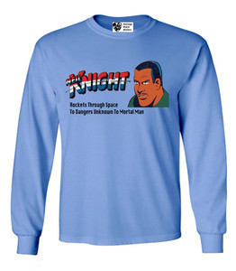 Vintage Black Heroes Men's Long Sleeved T-Shirt - Neil Knight - 4 - Carolina Blue