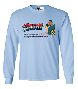 Vintage Black Heroes Men's Long Sleeved T-Shirt - Neil Knight - 5 - Light Blue