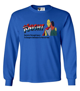 Vintage Black Heroes Men's Long Sleeved T-Shirt - Neil Knight - 6 - Royal Blue
