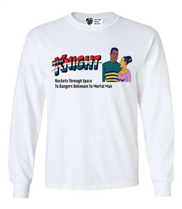 Vintage Black Heroes Men's Long Sleeved T-Shirt - Neil Knight - 7 - White