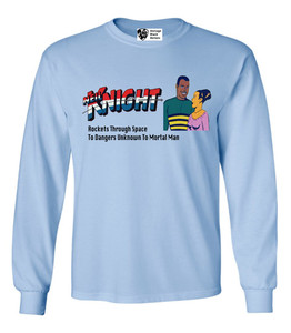 Vintage Black Heroes Men's Long Sleeved T-Shirt - Neil Knight - 7 - Light Blue