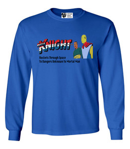 Vintage Black Heroes Men's Long Sleeved T-Shirt - Neil Knight - 8 - Royal Blue