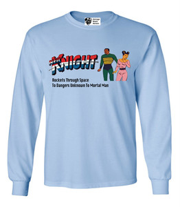 Vintage Black Heroes Men's Long Sleeved T-Shirt - Neil Knight - 9 - Light Blue
