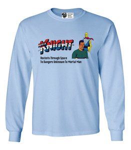 Vintage Black Heroes Men's Long Sleeved T-Shirt - Neil Knight - 10 - Light Blue