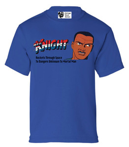 Vintage Black Heroes Boys T-Shirt - Neil Knight - 2 - Royal Blue