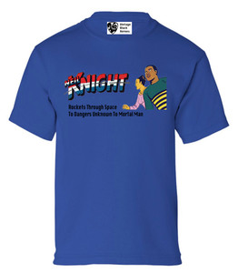 Vintage Black Heroes Boys T-Shirt - Neil Knight - 5 - Royal Blue