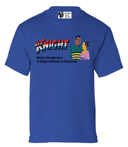 Vintage Black Heroes Boys T-Shirt - Neil Knight - 7 - Royal Blue