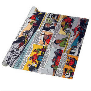 Vintage Black Heroes Wrapping Paper Sheets - The Chisholm Kid - CST11 - Package Of 5