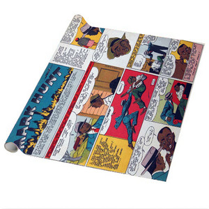 Vintage Black Heroes Wrapping Paper Sheets - Mark Hunt - CST4 - Package Of 5