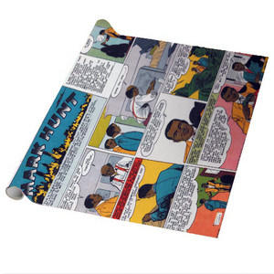 Vintage Black Heroes Wrapping Paper Sheets - Mark Hunt - CST8 - Package Of 5