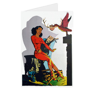 Afrotopia Greeting Cards - Vintage Lodge - Package Of 10